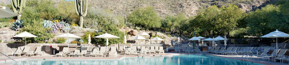 Poolside at the Loews Ventana Canyon Hotel